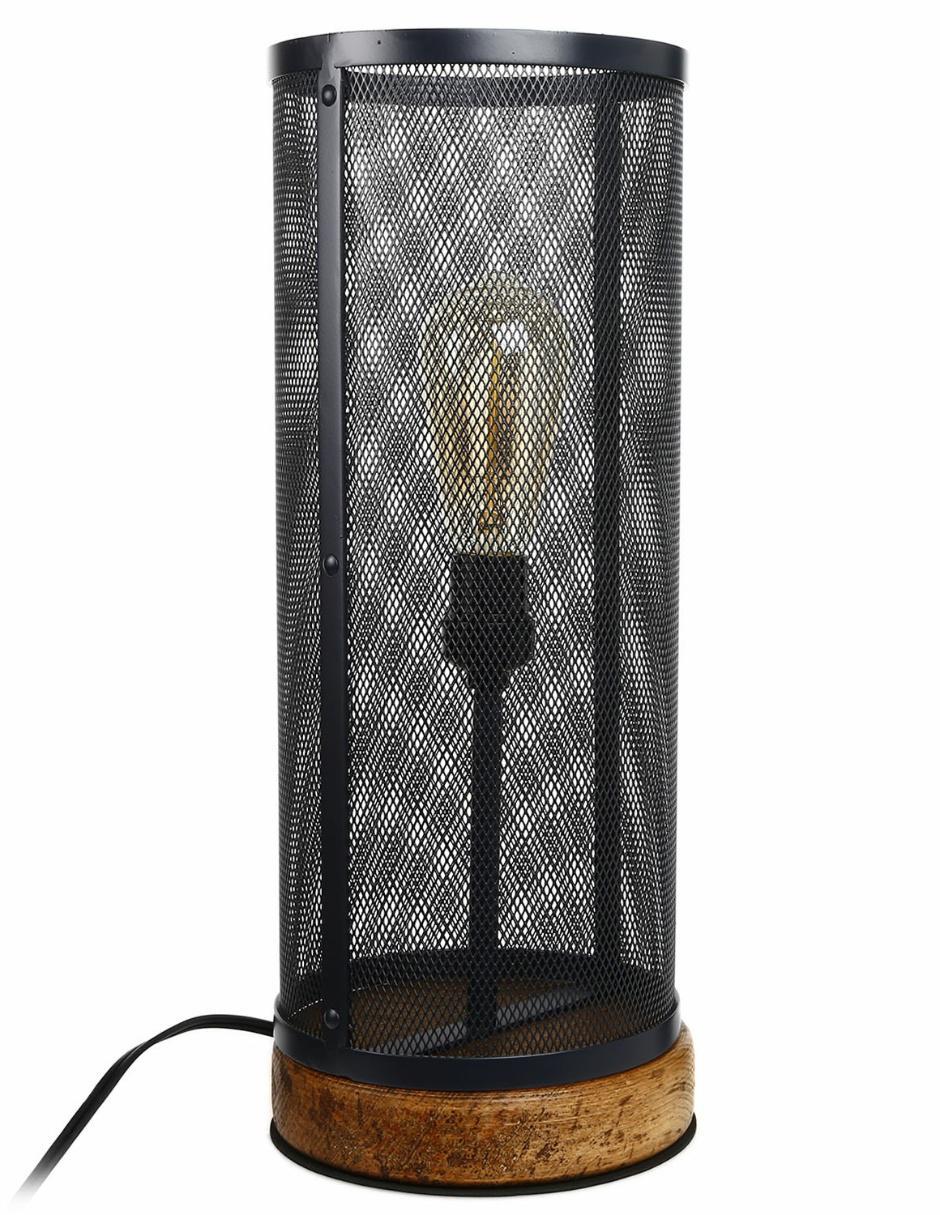 Lámpara de mesa Sincronia Caribe de metal y vidrio gris oxford